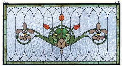 Dutch Garden Leaded Glass Panel