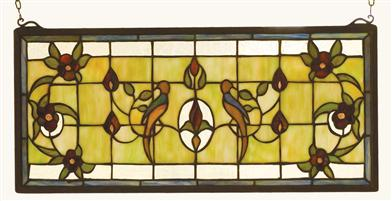 Lovebird's Nest Leaded Glass Panel