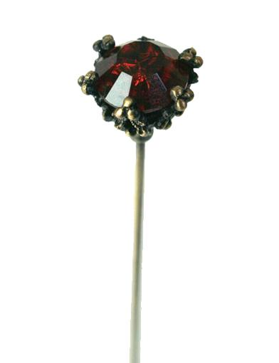 Round Ruby Hatpin