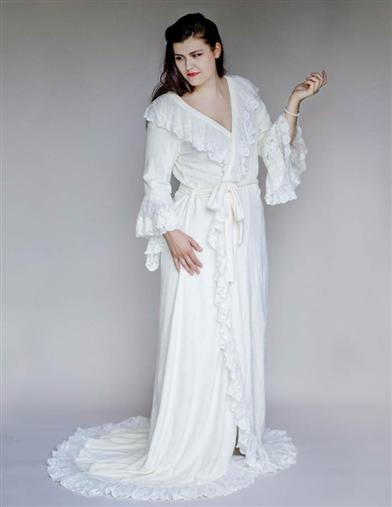 Christine's White Dressing Gown