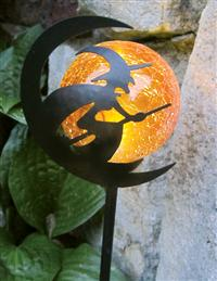 Solar Witch With Amber Globe