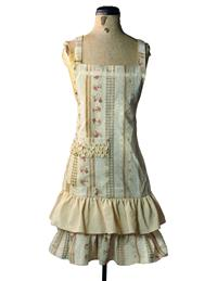 Liserette Striped Roses Apron