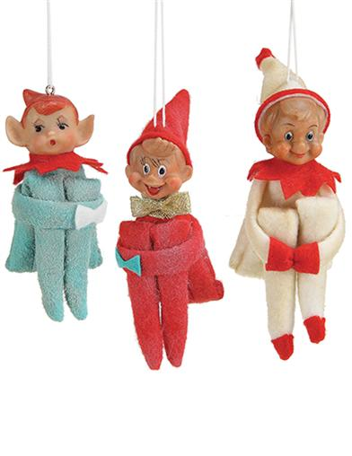 Nostalgic Elves Ornaments (Set Of 3)