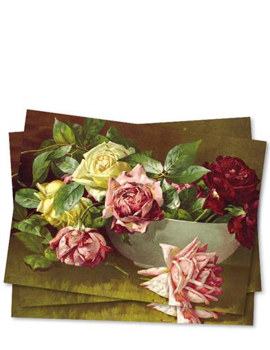 Bowl Of Roses (Pkg Of 10 Blank Cards)