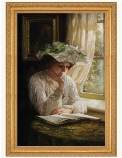 Lady Reading By A Window