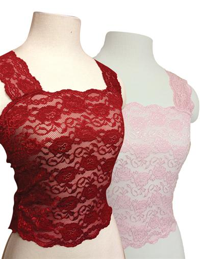 Silky Lace Camisoles (Red & Pink Set)