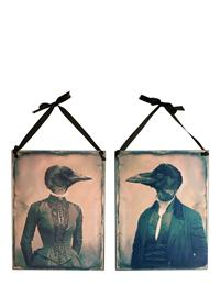 Mr & Mrs Nevermore Tin Signs