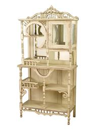 Ivory Wood Victorian Curio