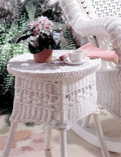 Amelia Wicker Side Table