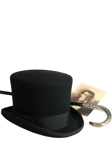 Men's Black Top Hat