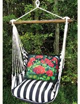 Cape Cod Swing & Geranium Pillow