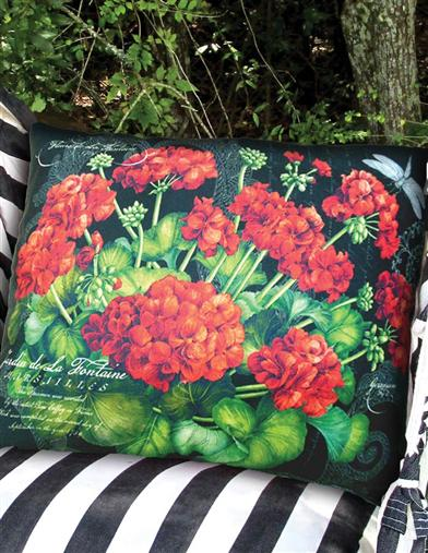 Small Geranium Hammock Pillow