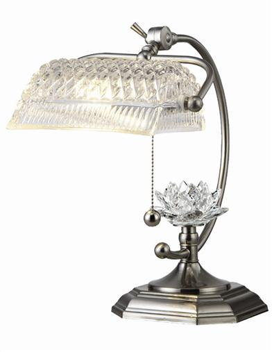 Crystal Banker Lamp