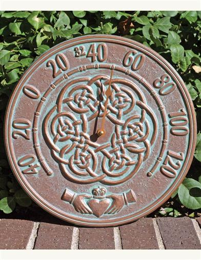 Verdigris Claddagh Thermometer