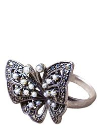 Pearled Papillon Ring