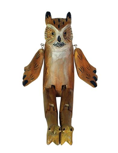 Whittled Woodland Shelf Sitter (Owl)
