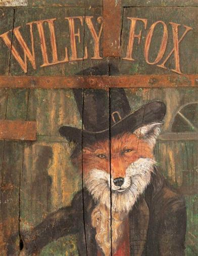 Wiley Fox Tavern Sign