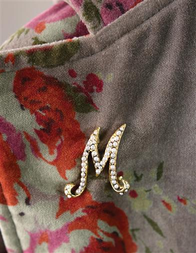 Pearly Initial Pin