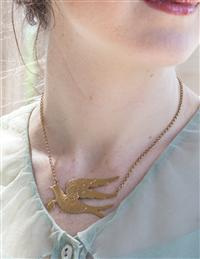 Carrier Pigeon Charm Necklace