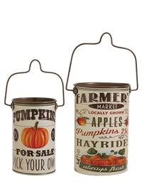 Farmer's Market Pails Set Of 2