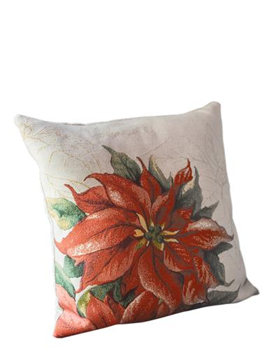 Poinsettia Tapestry Cushion