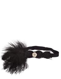 Claire Style Headband With Ostrich Feather