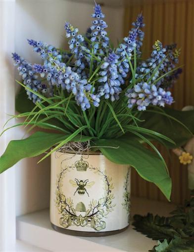 Bright Are The Bluebells Vase