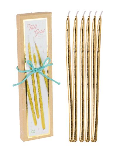 Gold Candles (Set Of 12)