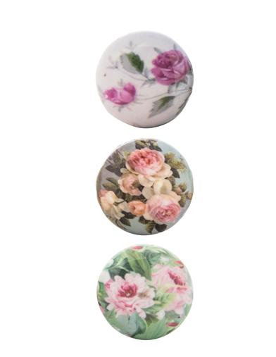 English Roses Knobs (Set Of 3)