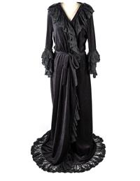 Christine's Black Dressing Gown
