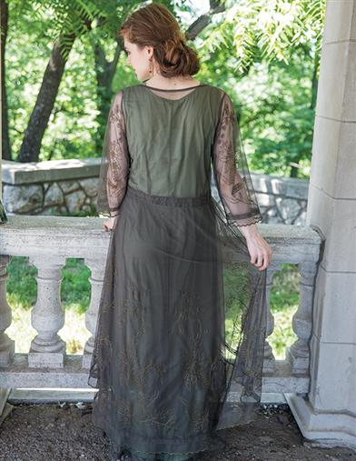 Tea Party Garden Dress (Emerald)