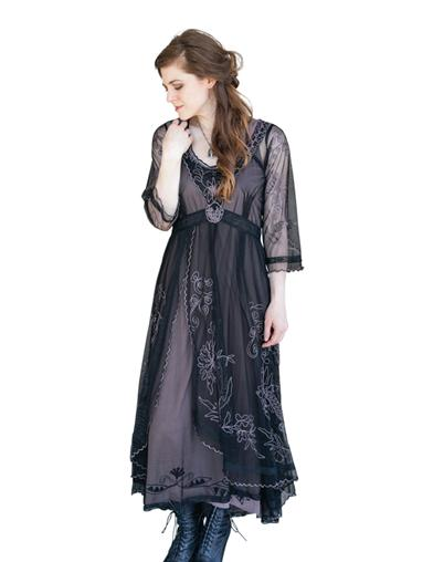 Tea Party Garden Dress (Black)