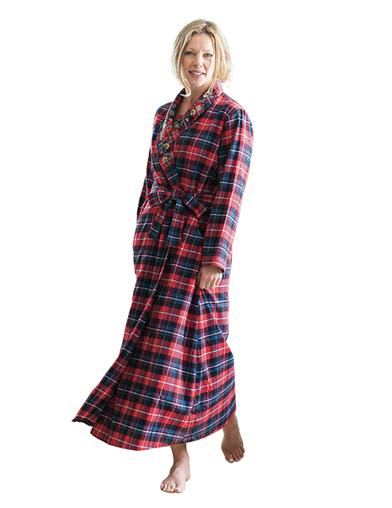 April Cornell Plaid Dressing Gown