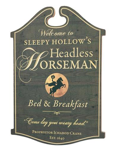 Headless Horseman Bed & Breakfast Wooden Sign