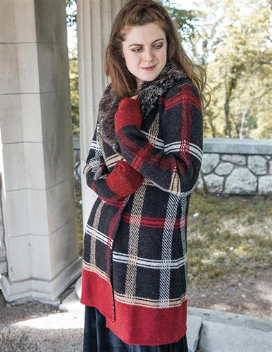Stewart Plaid Cardigan