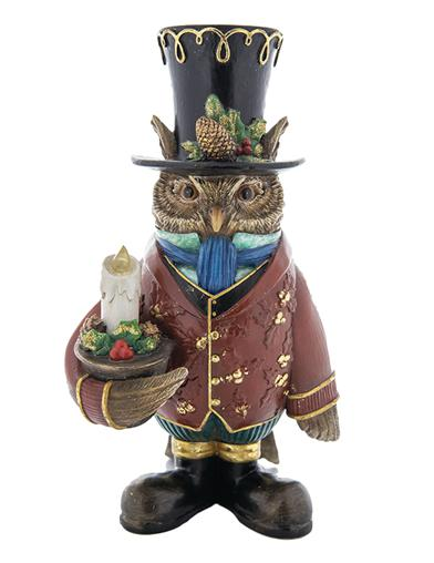 Steampunk Holiday Owl