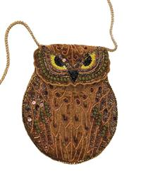 Woodland Owl Beaded Purse