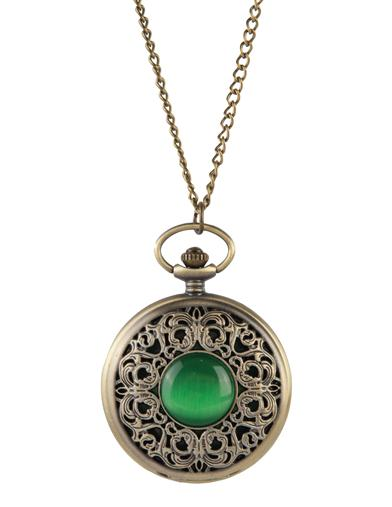 Emerald Isle Pocket Watch Necklace