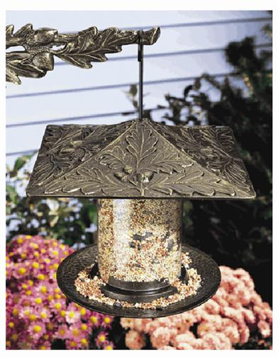 Oak Leaf Tube Bird Feeder