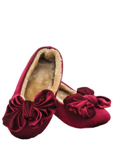 Velvet Bow Slippers