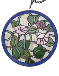 Morning Glory Stained Glass Hanger
