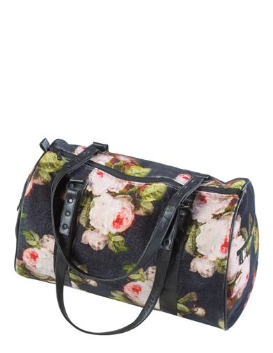 Bouquet Of Roses Velvet Duffle Bag