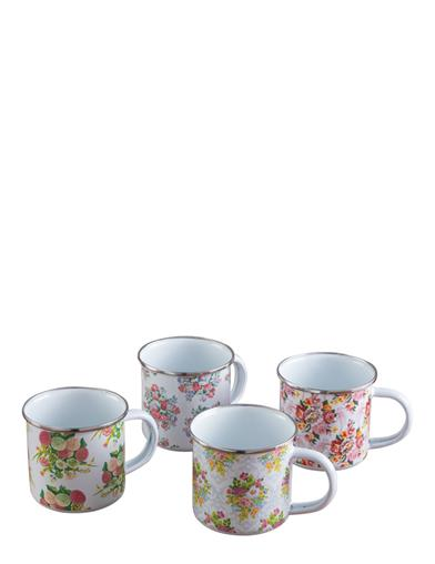Posy Enamel Metal Mug Set (Set Of 4)