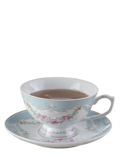 French Garland Teacups & Saucers (Set Of 2)