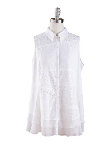 April Cornell Patchwork Lace Tunic