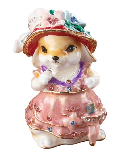 Mrs. Rabbit Trinket Box