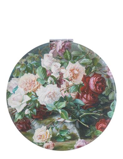 Bowl Of Roses Compact Mirror