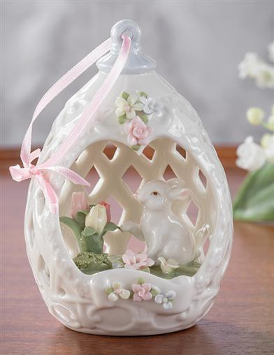Musical Easter Bunny Panoramic Ornament