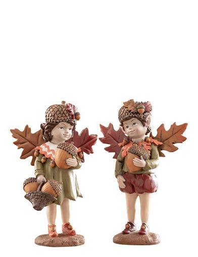 Audrey & Ignatius Autumn Fairies Figurines