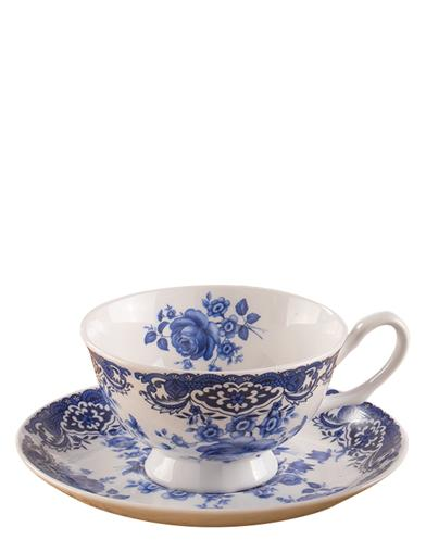 Blue Swansea Teacup Set